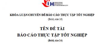 Báo Cáo Thực Tập- Tài chính Ngân Hàng- Đại Học Công Nghiệp Tp.HCM