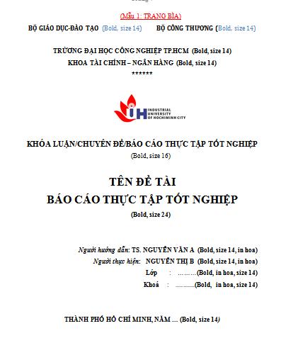 Báo cáo thực tập tài chính ngân hàng ĐH CN TPHCM