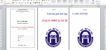 Giải bài tập đề án CASE STUDY từ 7 – 10 trang. Hướng dẫn viết điểm cao