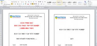 Cách trình bày báo cáo tốt nghiệp ĐẠT ĐIỂM CAO