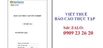 Báo cáo thực tập ngành Luật kinh tế Hutech – đại học Công Nghệ Tp.HCM