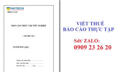Báo cáo thực tập ngành Luật kinh tế Hutech - đại học Công Nghệ Tp.HCM