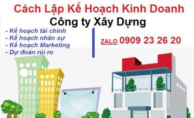 Lập kế hoạch kinh doanh công ty xây dựng TOPICA - Xây dựng kế hoạch kinh doanh quán