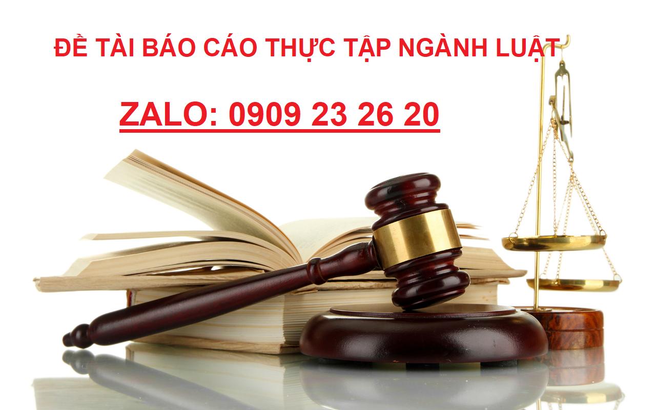 đề tài báo cáo thực tập ngành luật