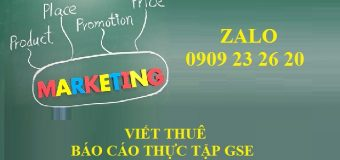 Viết thuê báo cáo thực tập ngành marketing giá rẻ HCM
