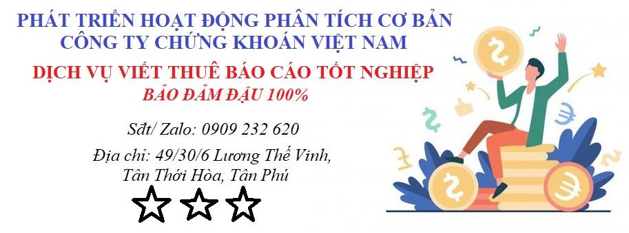 Phát Triển Hoạt Động Phân Tích Cơ Bản Công Ty Chứng Khoán Việt Nam